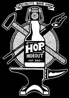 Hop Hideout logo. [Permission granted by Jules Gray to share image]